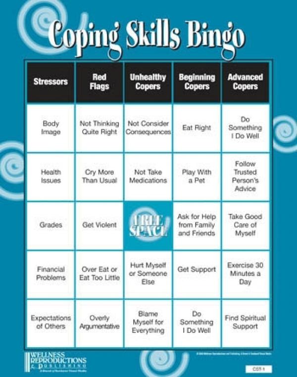 99 coping skills list pdf