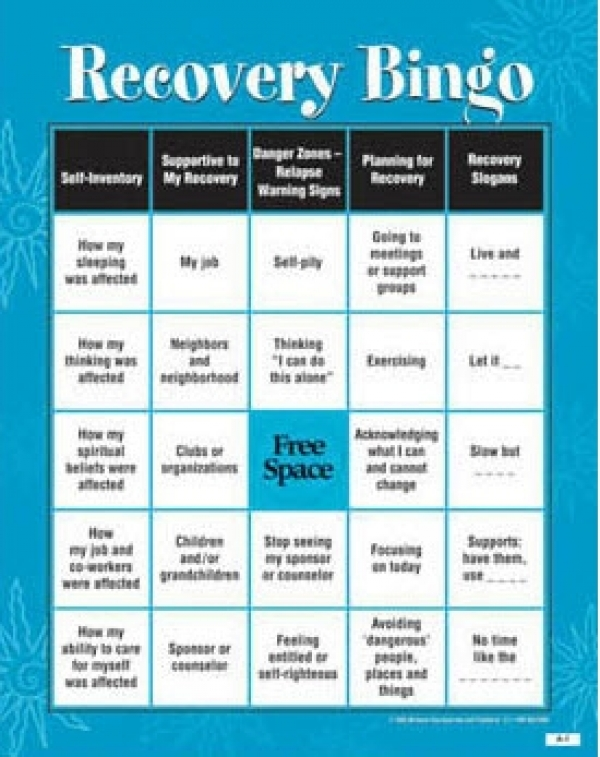 free drug recovery worksheets